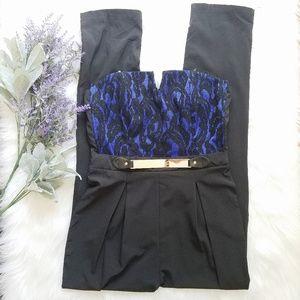 Akira Lace Bustier Pants Trouser Jumpsuit Romper